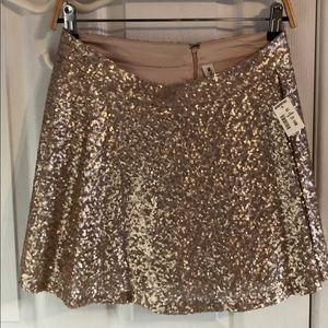 Rose Gold Sequin Circle Skirt